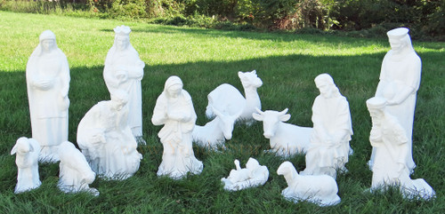 Outdoor Nativity Scene 14-Piece Set