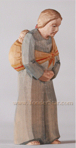 Woman Carrying Baby - Huggler Swiss Nativity Woodcarving
