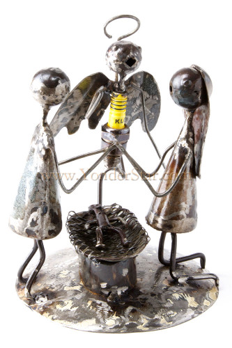 Recycled Spark Plug Nativity Scene from Burkina Faso