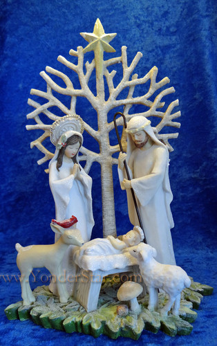 """Tree of Life"" Nativity Figurine"