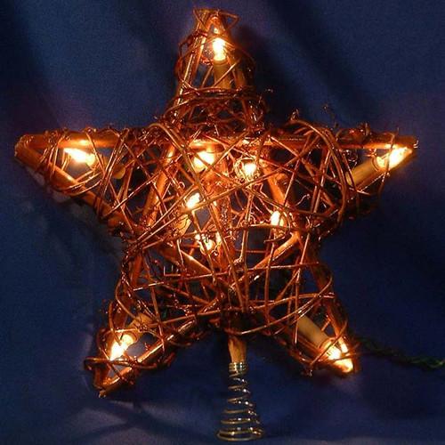 """9"""" Rattan Star Tree Topper"""