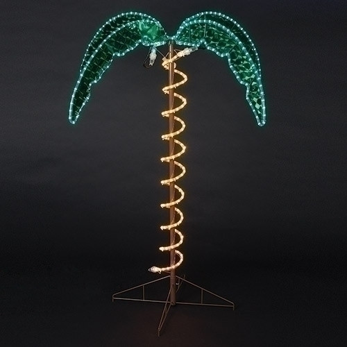 Outdoor Lighted Palm Tree - 4.5 feet tall