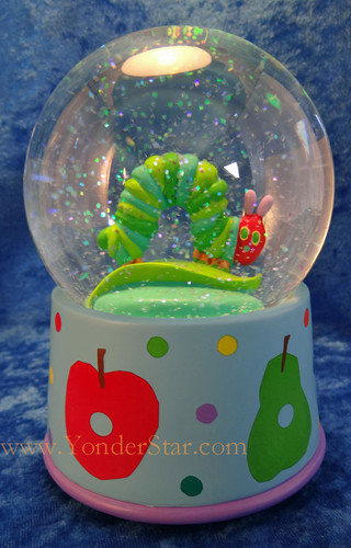 "5.5"" Musical Glitterdome - The Very Hungry Caterpillar"