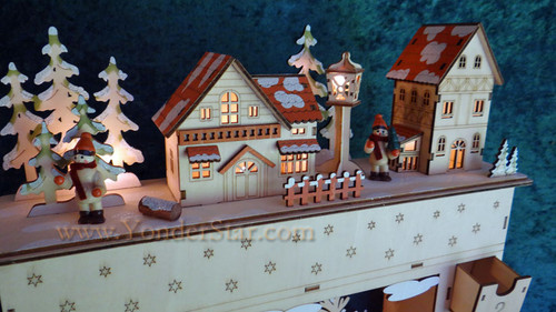 Lighted Wooden Advent Calendar