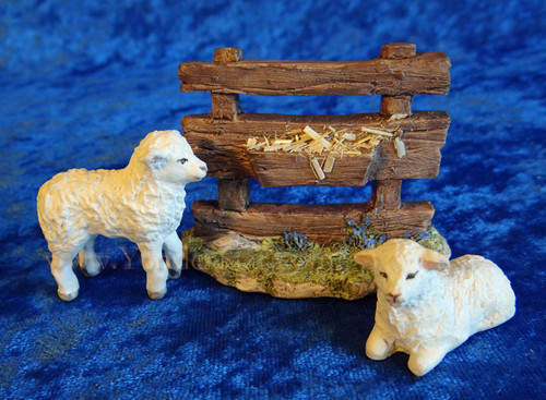 Lambs and Fence -  Hestia Companions Nativity Animals