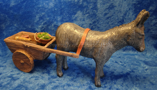 Standing Donkey with Cart - Compainions Nativity Scene