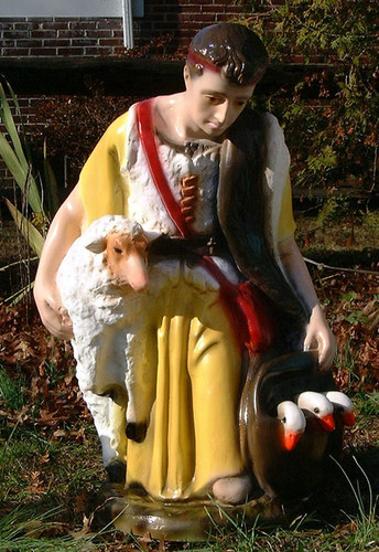 Shepherd with Sheep for Outdoor Nativity Full Color