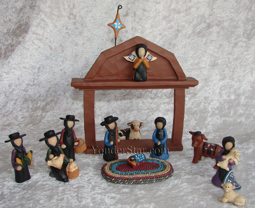 Amish Nativity Set