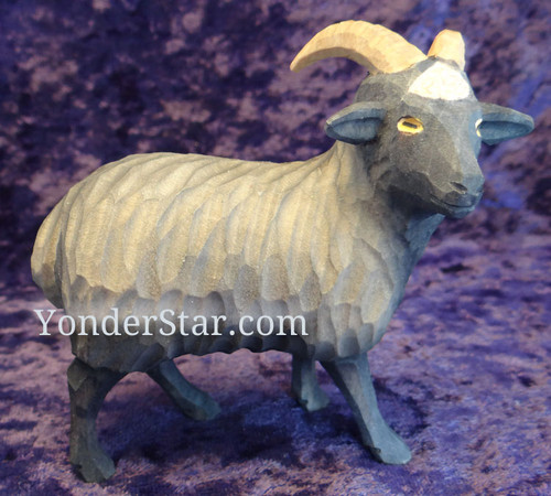 Goat - Huggler Nativity Swiss Woodcarving