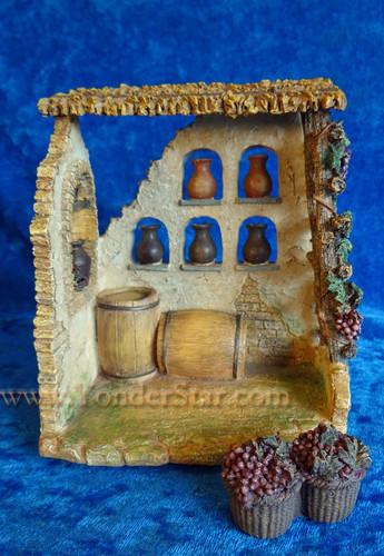 "Wine Maker Shop - 5"" Fontanini Nativity Market  55579"