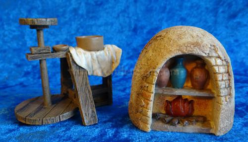 """Potters Wheel and Kiln - 5"""" Fontanini Nativity Accessory 59539"""
