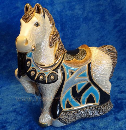 Rinconada Nativity Blue Royal Horse Uraguay - Platinum & Gold Highlights