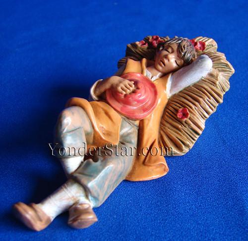 "Ephraim - 5"" Fontanini Nativity Shepherd Sleeping  54033"