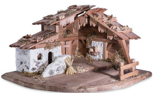 Corner Stable for 10 cm LEPI Nazarene Nativity