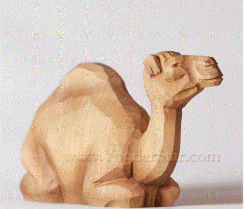 Camel Seated - Huggler Swiss Nativity Woodcarving