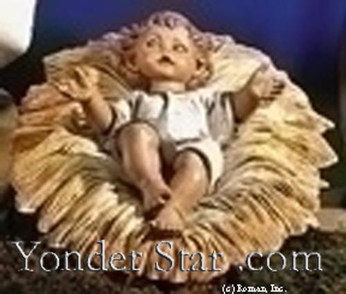 """Jesus in Crib - 27"""" Scale Fontanini Nativity 53113"""
