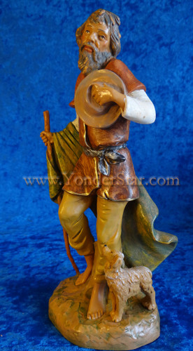 "Abraham - 12"" Fontanini Nativity Old Man w Dog 52922"