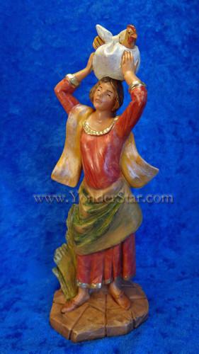 """Candace - 7.5"""" Fontanini Nativity Villager Woman 52874"""