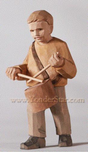 Drummer Boy - Huggler Nativity Woodcarving