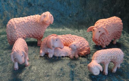 Kastlunger Flock of Sheep for LEPI Kastlunger Wood Nativity : Pre-Order