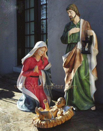 Large Outdoor Nativity 5 Foot Tall Holy Family