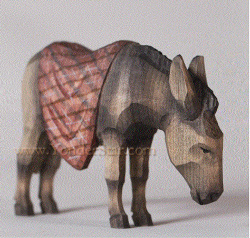 Donkey with Blanket - Huggler Nativity Woodcarving