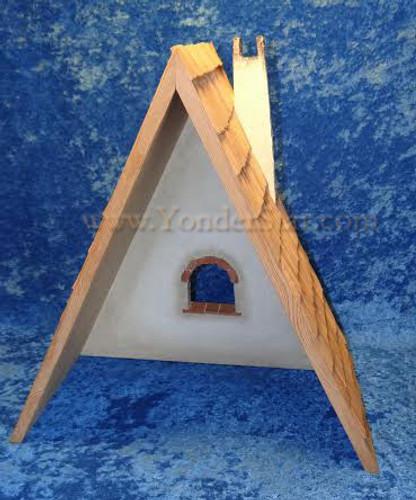 Kastlunger Empty Stable for LEPI Kastlunger Wooden Nativity