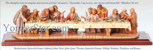 "Last Supper Scene - 5"" Fontanini Nativity Life of Christ"