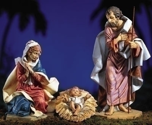 "Holy Family - 27"" Fontanini Nativity Made in Italy"