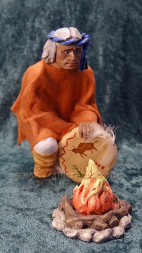 Narbona - Hestia Companions Nativity Man with Campfire - Retired in 1999