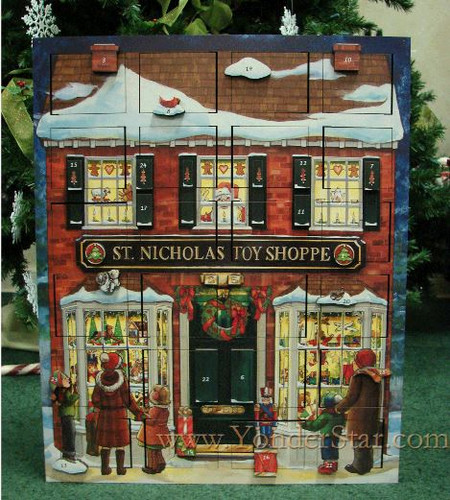 Musical Toy Shoppe Wooden Advent Calendar - Leaves Warehouse within 1 Business Day*