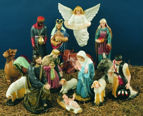 Outdoor Nativity Scene Full Color 15 Pieces