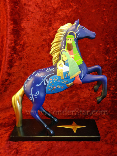 Trail of Painted Ponies Nativity Scene on Horse