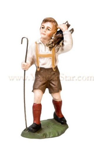 Marolin German Nativity Boy with Bundle 12 cm Scale