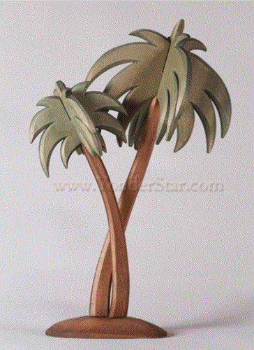 Palm Tree - Huggler Nativity Woodcarving - 14cm Scale