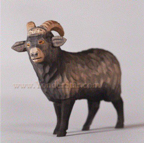 Goat - Huggler Nativity Woodcarving - 14cm Scale
