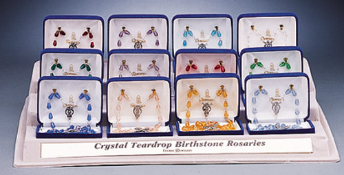 Crystal Birthstone Rosary Beads