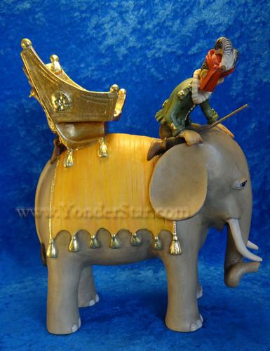 Kastlunger Elephant with Rider for LEPI Kastlunger Wooden Nativity