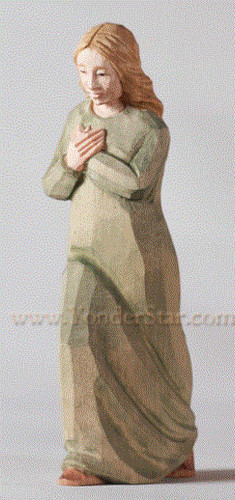 Woman with Crossed Hands - Huggler Nativity Woodcarving