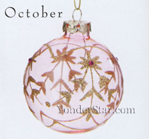 October Birthstone Ornament - 1 Left in Stock