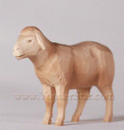 White Sheep - Huggler Nativity Woodcarving - 14 cm Scale
