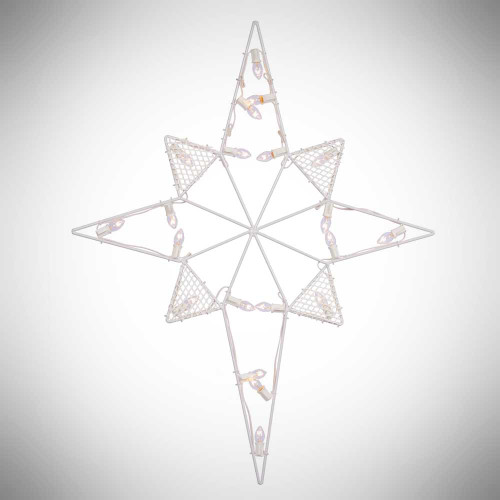 "39"" Lighted Outdoor Star White C7 Bulbs"