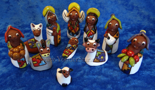 "2.25"" Tilicho Nativity Set Fair Trade from Bolivia"