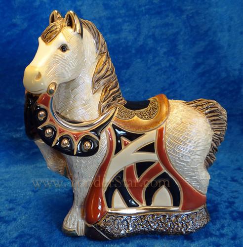 Rinconada Nativity Red Royal Horse Uraguay - Platinum & Gold Highlights