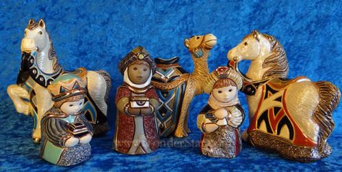 Rinconada Nativity Wisemen Caravan Set from Uruauay 6 Pcs