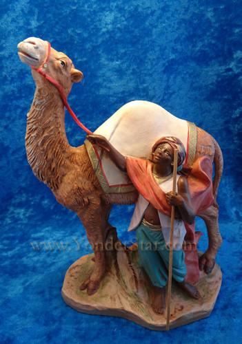 "Cyrus - 7.5"" Fontanini Nativity Young Man w Camel 52863"