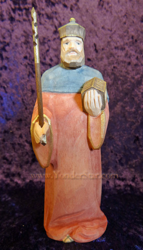 Wiseman Melchior - Huggler Nativity Woodcarving