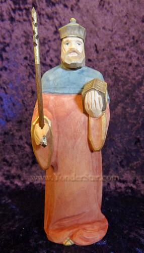 Wiseman Melchior - Huggler Nativity Woodcarving