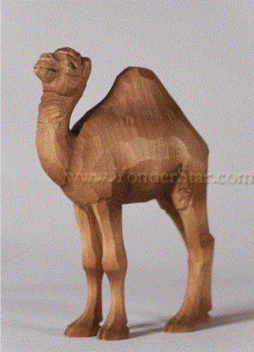 Young Camel Standing - Huggler Nativity Woodcarving Switzerland