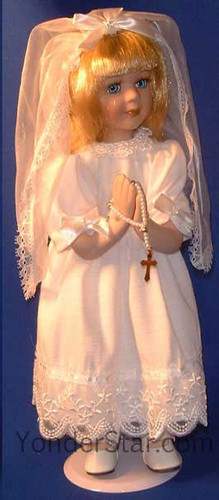 First Holy Communion Doll Blonde